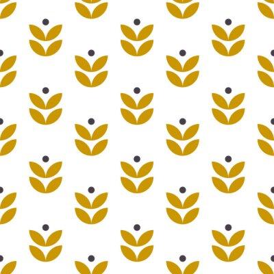 Tapeta Prosty wzór geometryczny w stylu skandynawskim. Motyw kwiatowy w stylu retro. Tapeta wektor