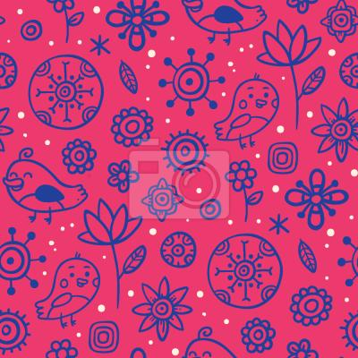 Tapeta Ptaki Kochają Kwiaty