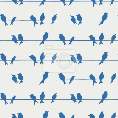 Tapeta Ptaki Na Drzewie