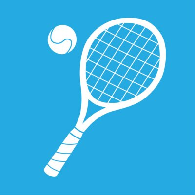 Tapeta Rakieta tenisowa i ikona kuli