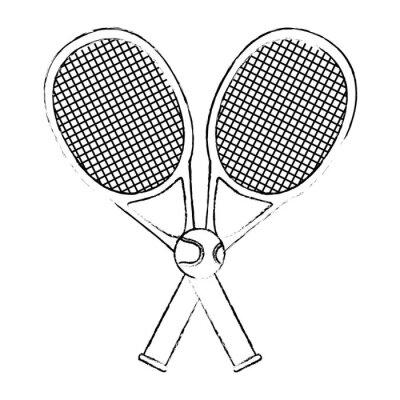 Tapeta rakieta tenisowa z piłką