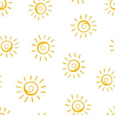 Tapeta Ręcznie rysowane słońce ikona bezszwowe tło wzór. Biznesowa pojęcie wektoru ilustracja. Handdrawn symbol słońce wzór.