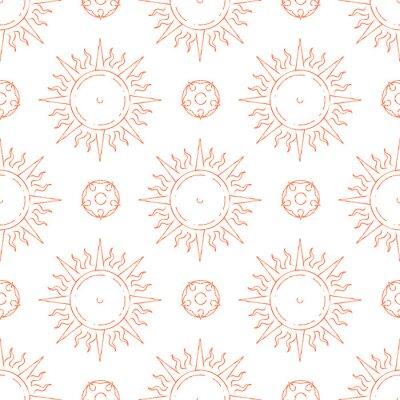 Tapeta Ręcznie rysowane słońce wzór