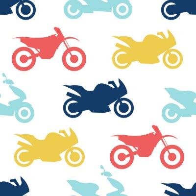 Tapeta Retro motocykl bez szwu wzór
