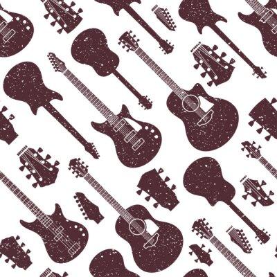 Tapeta Retro projektujący wektor gitary bezszwowy wzór lub tło