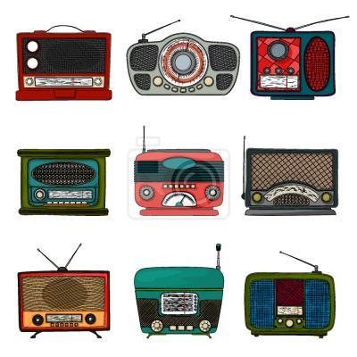 Tapeta Retro radio