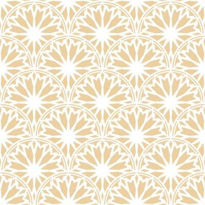 Tapeta Rising Sun szwu. Stylowy design druku tekstylnego koronkowy. Arc etniczne tkaniny tle.