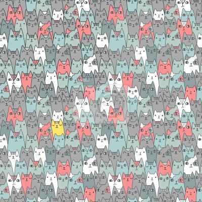 Tapeta rodzina Kotów