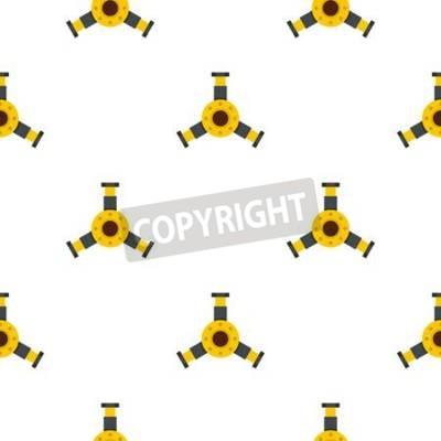 Tapeta Round mechanika szczegółu wzór bezszwowy dla jakaś projekta wektoru ilustraci