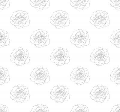 Tapeta Róża bezszwowa na białym tle