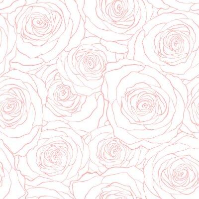 Tapeta róże bez szwu wektor wzór