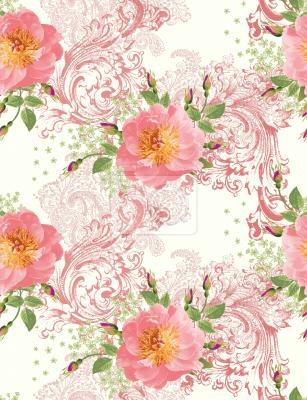 Tapeta róże epokowe