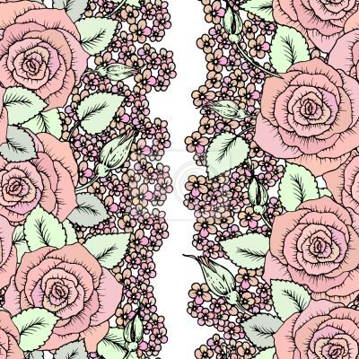 Tapeta Róże i mężczyzna Kwiaty