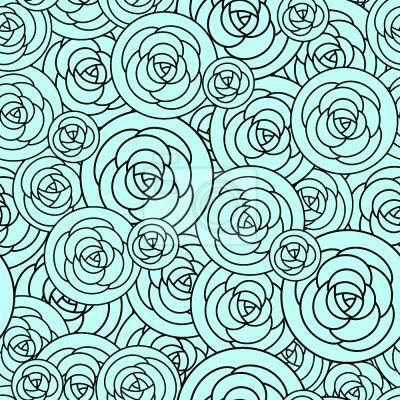 Tapeta Róże na płytkach