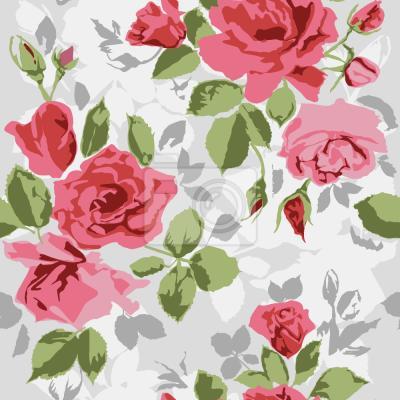 Tapeta róże ogrodowe