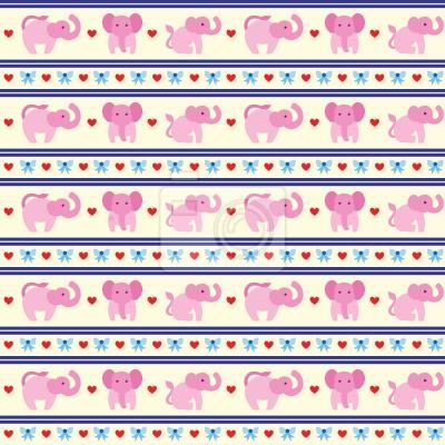 Tapeta Różowe Słonie