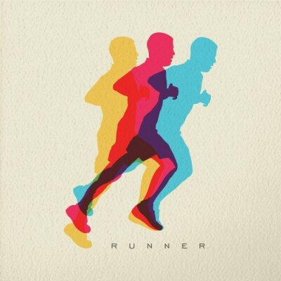 Tapeta Runner sportowa sylwetka człowieka koncepcji projektu