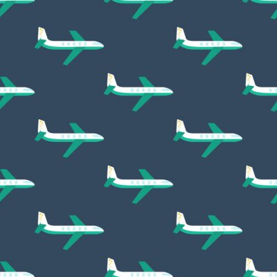 Tapeta Samolot bez szwu wzór