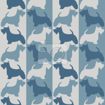 Tapeta Scottish Terrier On Stripes