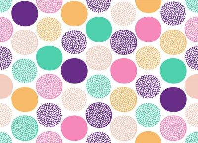 Tapeta Seamless creative stylish doodle dots playful pattern - Vector