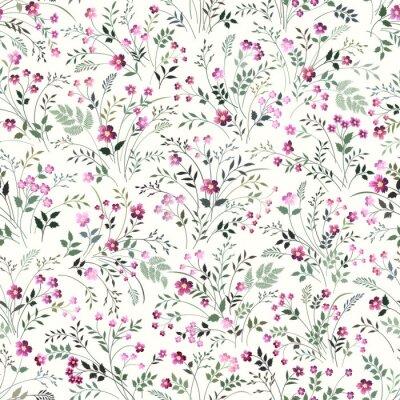 Tapeta seamless floeal pattern with meadow flowers