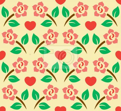 Tapeta Serca I Róże