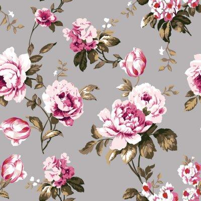 Tapeta Shabby chic vintage róż wzór