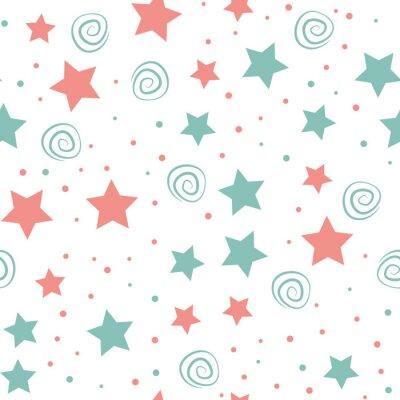 Tapeta Sky full of stars kids seamless pattern design