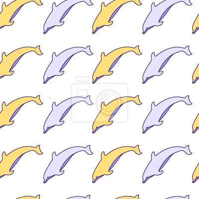 Tapeta Słodkie Delfiny