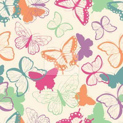 Tapeta Słodkie Motyle