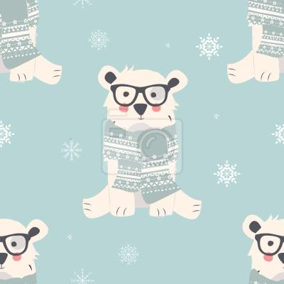 Tapeta Słodkie Niedźwiedzie Polarne