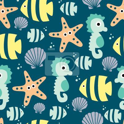 Tapeta Słodkie zwierzeta morskie
