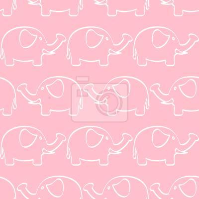 Tapeta Słoń Parada Baby