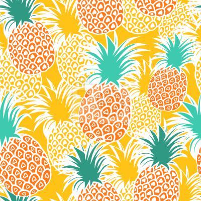 Tapeta Słoneczne Owoce I Sok Ananasowy