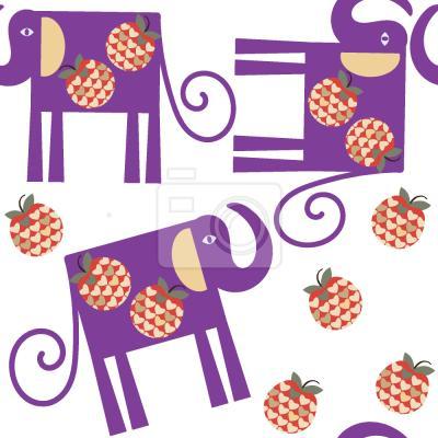 Tapeta Słonie I Jabłka