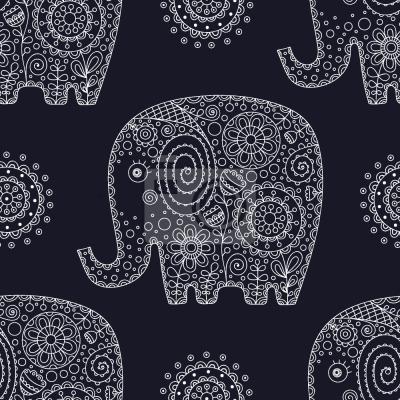 Tapeta Słonie ozdobne