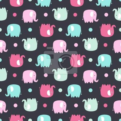 Tapeta Słonie W Przestrzeni