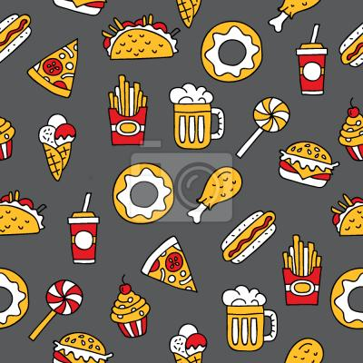 Tapeta Smaczne fast food