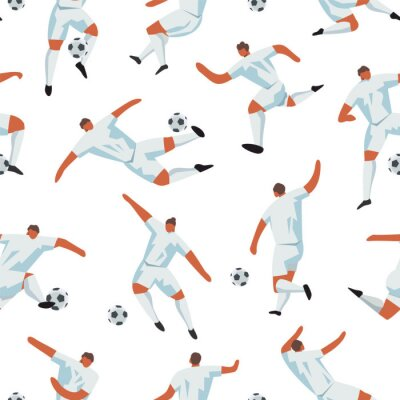 Tapeta Soccer Players Game. Football Vector Sport seamless pattern