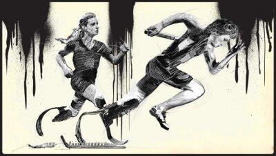 Tapeta Sportowcy z upośledzeniami fizycznymi - SPRINT, RUNNING