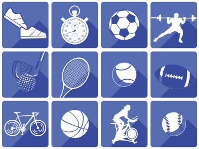 Tapeta Sprzęt sportowy i sportowcy