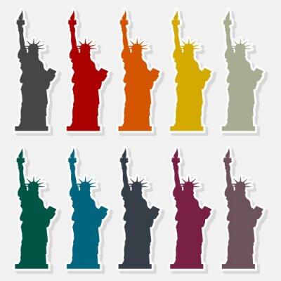 Tapeta Statue of Liberty ikona - Ilustracja