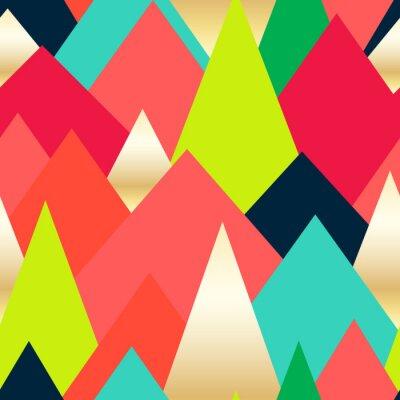 Tapeta Streszczenie bezszwowe tło z kolorowych trójkątów. wzór Circus. ilustracji wektorowych