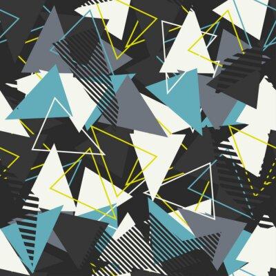 Tapeta Streszczenie bezszwowe wektor wzór dla dziewcząt, chłopców, ubrania. Twórczy tło z kropkami, figury geometryczne Śmieszne tapety na tekstylia i tkaniny. Styl mody. Kolorowe jasne