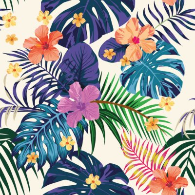 Tapeta Streszczenie kolor tropikalny wzór bezszwowe tło światła