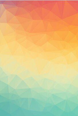 Tapeta Streszczenie naturalne wielokątne tła. Gładkie kolory wiosny pomarańczowy kolor na zielony