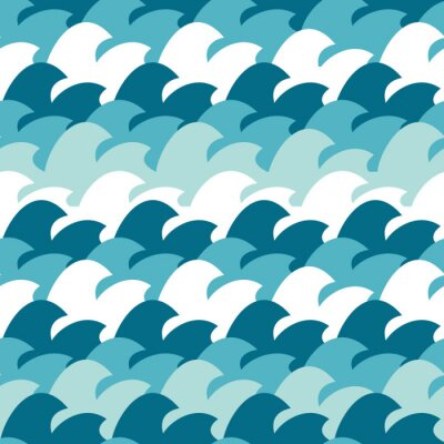 Tapeta Streszczenie Simple Wave Bezszwowych wzór tła ilustracji wektorowych