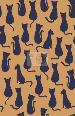 Tapeta Sylwetki Kotów