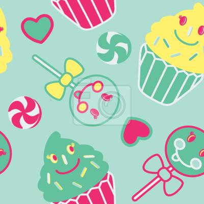 Tapeta Szczęśliwe desery Mięta