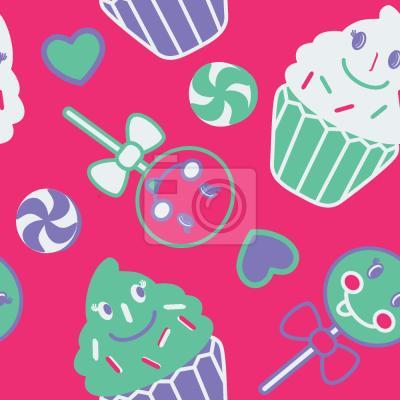 Tapeta Szczęśliwe desery Pink